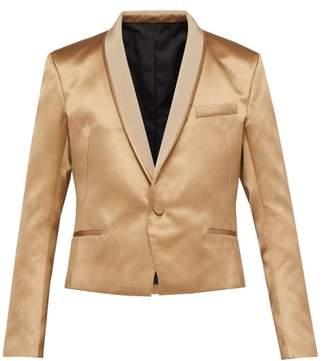Haider Ackermann Shawl Lapel Silk Blend Satin Jacket - Mens - Beige
