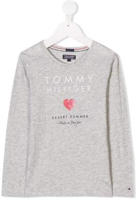 Tommy Hilfiger Junior long-sleeved logo T-shirt