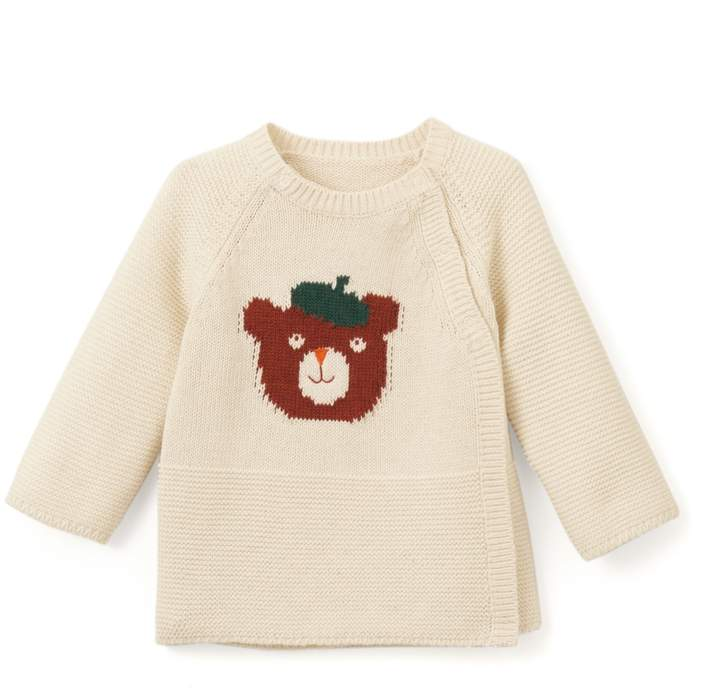 La Redoute Collections Cotton Knitted Top, Birth-2 Years