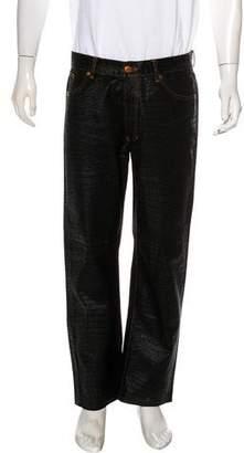 Jean Paul Gaultier Printed Straight-Leg Jeans