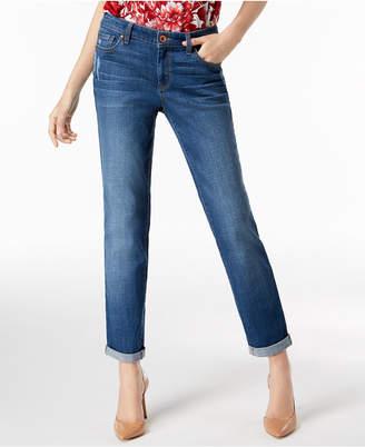 INC International Concepts I.n.c. Curvy-Fit Cuffed Boyfriend Jeans