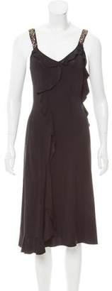 Alberta Ferretti Embellished Midi Dress