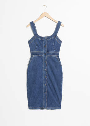 And other stories Fitted Denim Pencil Dress