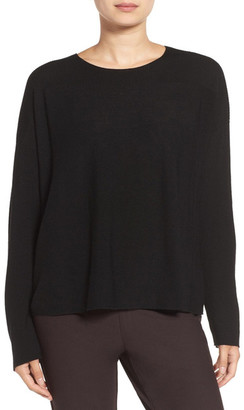 Eileen Fisher Mix Stitch Merino Bateau Neck Sweater $198 thestylecure.com