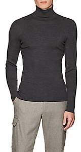 Ralph Lauren Purple Label Men's Merino Wool Turtleneck Sweater - Gray