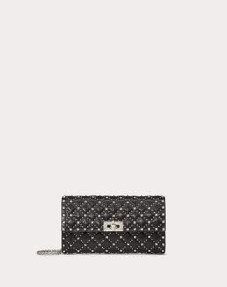 Valentino Garavani Rockstud Spike.it Crossbody Clutch Bag With Micro Studs Women Black 100% Pelle Di Vitello - Bos Taurus OneSize
