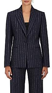 Pallas WOMEN'S PINSTRIPED WOOL SINGLE-BUTTON JACKET