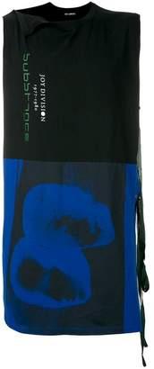 Raf Simons Joy Division print long-line vest