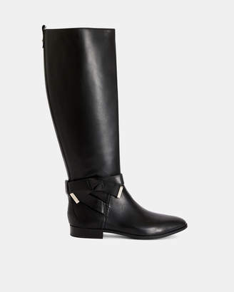 Ted Baker SINTIAL Leather knot detail boots
