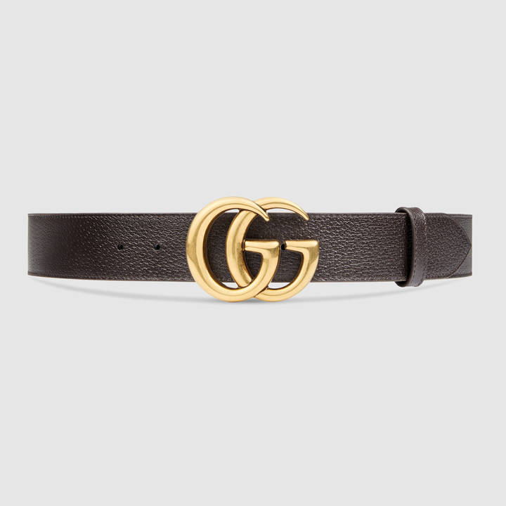 Leather belt with double G buckle 4