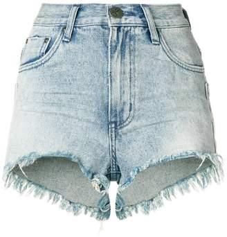 One Teaspoon frayed mini denim shorts