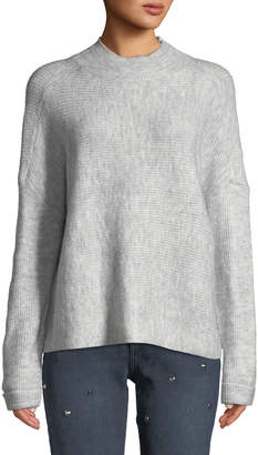 Dex Drop-Shoulder Ribbed Pullover Sweater