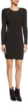 Derek Lam 10 Crosby Metallic Jacquard Sheath Dress, Black/Gold $395 thestylecure.com