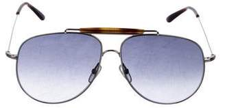 Valentino Aviator Tinted Sunglasses