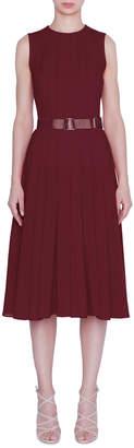 Akris Sleeveless Pleated A-Line Dress