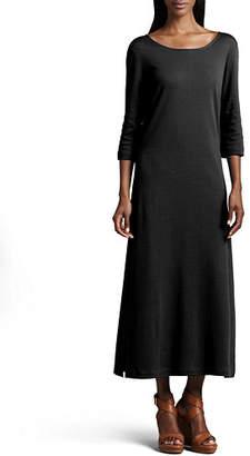 Joan Vass Petite Interlock Easy Maxi Dress