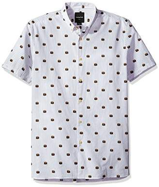 Barney Cools Men's Short Sleeve Burger Print Shirt