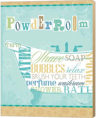 Metaverse Bathroom Words Tub I By Pela Studio Canvas Art