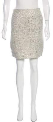 Peter Som Jacquard Knee-Length Skirt