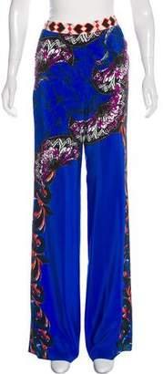 Etro Silk Mid-Rise Wide-Leg Pants W/ Tags