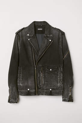 H&M Denim Biker Jacket - Black