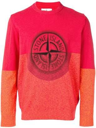 Stone Island graphic logo digital print sweatshirt