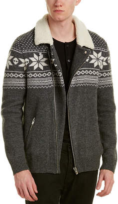 The Kooples Jacquard Wool-Blend Jacket