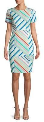 Black Halo Jodee Striped Sheath Dress