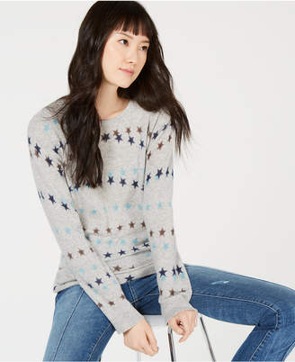 Charter Club Pure Cashmere Star-Print Sweater