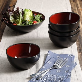 Gibson Home GIBSON HOME SOHO LOUNGE 5-PIECE ROUND SERVING BOWL SET