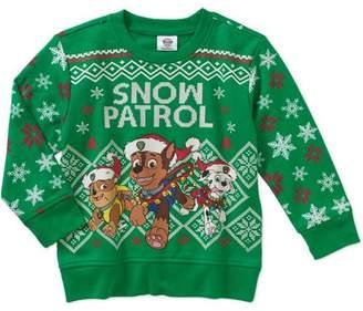 Teenage Mutant Ninja Turtles Holiday Assorted Characters Toddler Boy Crew Neck Fleece Sweater