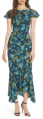 Saloni Daphne Floral Print Dress