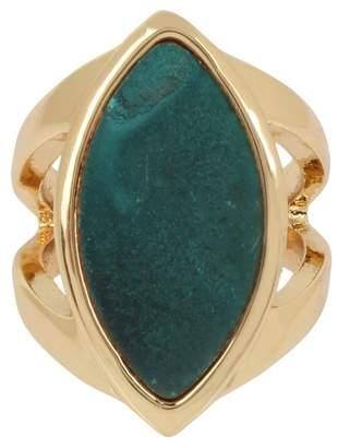 Robert Lee Morris Green Patina Marquise Ring - Size 7.5