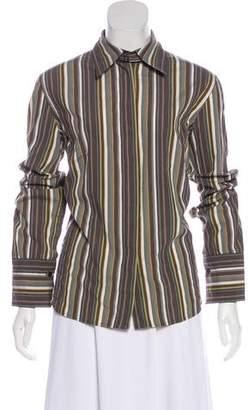 Akris Punto Striped Button-Up Top