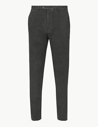 M&S Collection Pure Cotton Slim Fit Moleskin Trousers