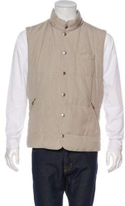 Brunello Cucinelli Silk-Blend Quilted Gilet
