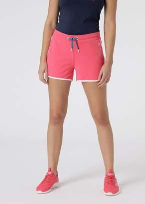 Emporio Armani Ea7 Stretch Cotton Shorts With Contrasting Trim