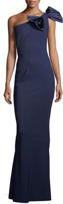 Chiara Boni Jasmine Asymmetric Bow-Detail Gown