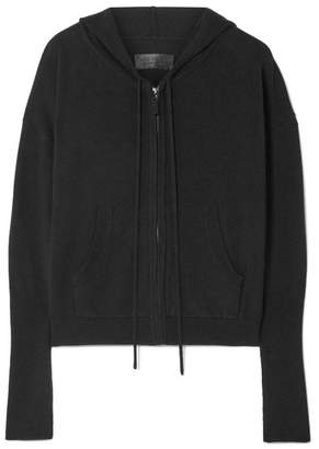 Nili Lotan Elisha Cashmere Hooded Top - Black