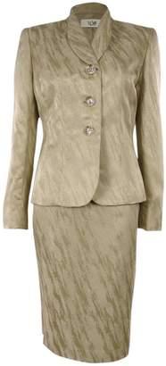 Le Suit LeSuit Women's Jacquard Petite Skirt Suit