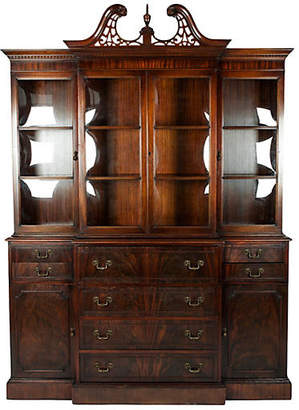 One Kings Lane Vintage Antique Mahogany China Cabinet - La Maison Supreme