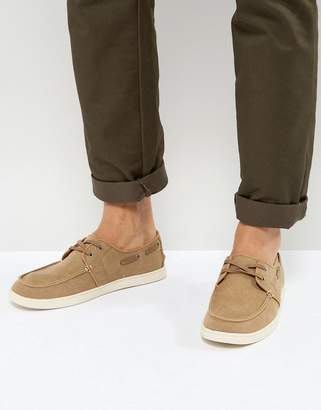 Toms Culver Boat Shoes In Tan