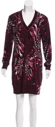 Fuzzi Velvet Digital Print Dress w/ Tags