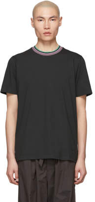 Marni Grey Striped Collar T-Shirt