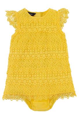 Ralph Lauren Lemondrop Tiered-Lace Dress