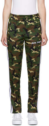 Palm Angels Green Camo Classic Track Pants