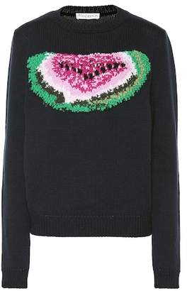 J.W.Anderson Embroidered watermelon wool sweater