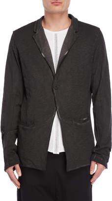 Thom/Krom Black Oil Slub Knit Jacket