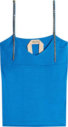 N°21 Knit Camisole with Embellished Straps