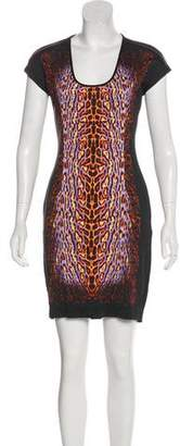 Just Cavalli Scoop Neck Mini Dress